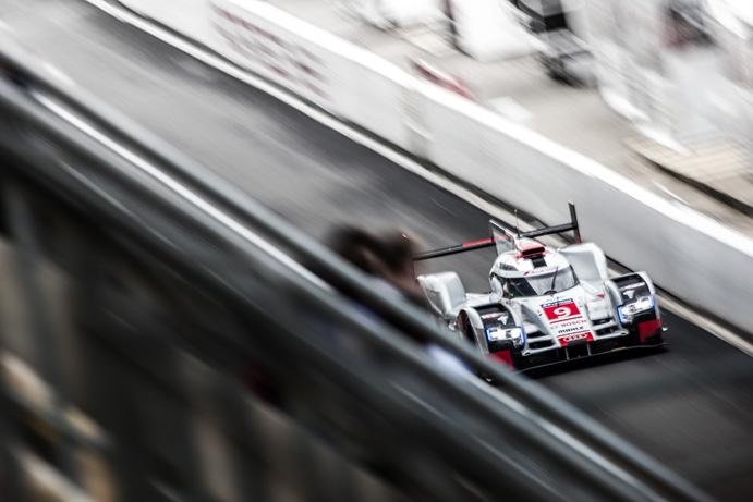 Car #9 / AUDI SPORT TEAM JOEST (DEU) / AUDI R18 E-TRON QUATTRO Hybrid / Filipe ALBUQUERQUE (PRT) / Marco BONANOMI (ITA) / RenŽ RAST (DEU) - Le Mans 24 Hours at Circuit Des 24 Heures - Le Mans - France