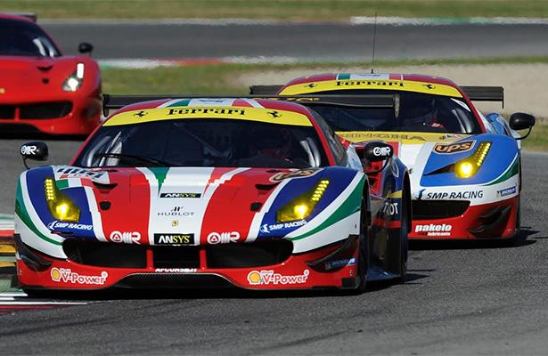 AF Corse车队的法拉利488 GTE与法拉利458 Italia