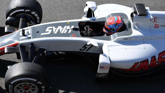 图为Santino Ferrucci去年代表哈斯参加年轻车手测试