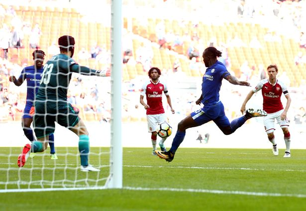 Victor Moses opened the scoring(Image: Rex Features)